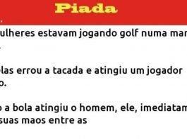 Duas mulheres jogavam golfe