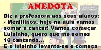 Sala de aula - Anedota