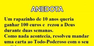 ganhar 100 euros - ANEDOTA
