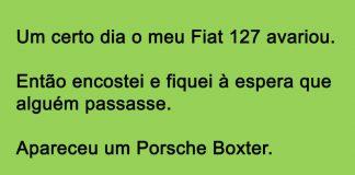 Fiat 127 avariou