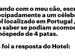resposta 5 estrelas de um hotel