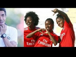 equipa feminina de futebol do Benfica