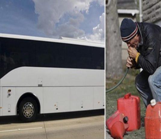 Homens tentam roubar gasolina
