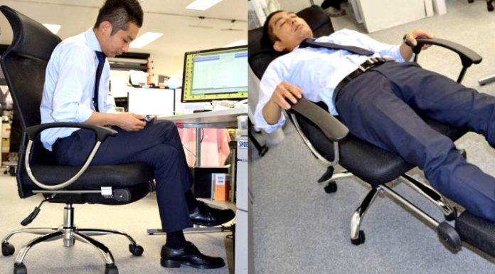 cadeira passa para modo de descanso