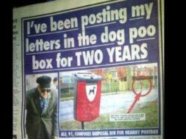 cartas num caixote do lixo
