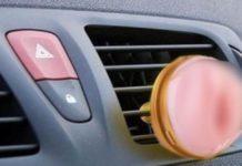 purificador de carro com cheiro de xaroca