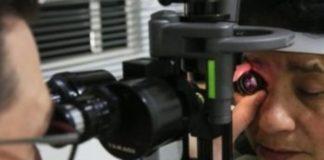 Cega recupera a visão após operação