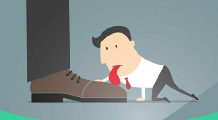"""37% dos funcionários de uma empresa são """"lambe-botas"""""""
