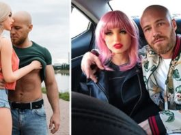 Bodybuilder pede a sua boneca em casamento