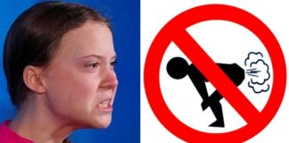 Greta sugere proibição de peidos