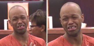 Violador chora em tribunal
