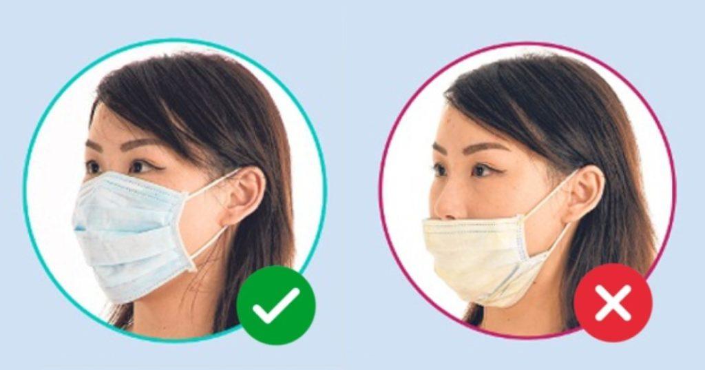 usar nariz dentro da máscara