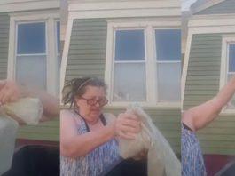 Mulher coloca cinzas marido no lixo