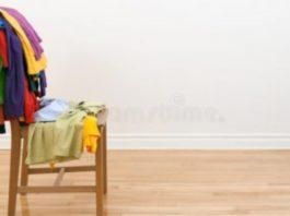 cadeira como guarda-roupa principal