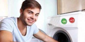 Máquina de lavar roupa só para homens