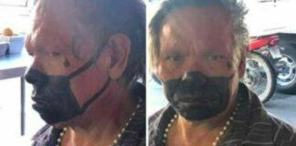 máscara pintada cara