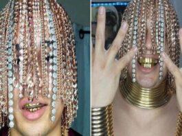 correntes ouro cabeça